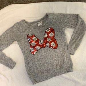 DISNEY Minnie sequin bow sweater